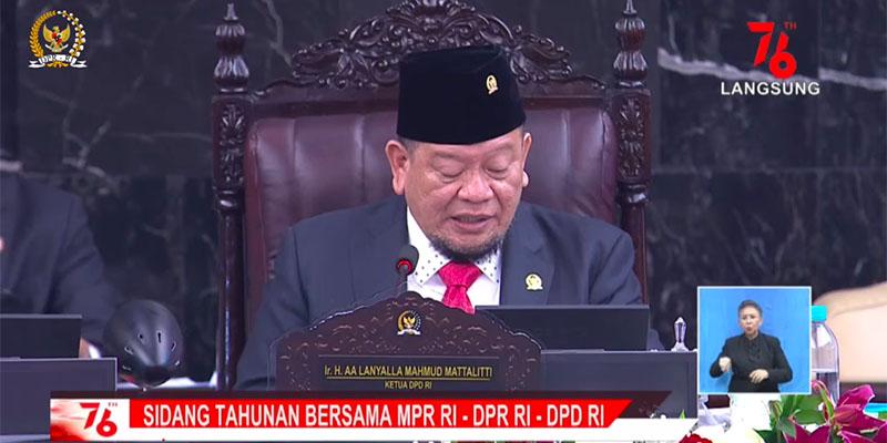 Kutip Lagu Iwan Fals, Ketua DPD: Bangunlah Putra Putri Ibu Pertiwi, Singkirkan Kutu dan Benalu