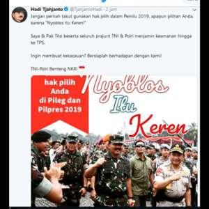 Andi Arief: Kekacauan Yang Dinyatakan Panglima TNI Adalah Judul Besar Propaganda
