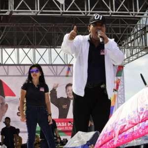 Pujo Tutup Kampanye Dukungan Jokowi Di Lampung Dengan Pawai Budaya
