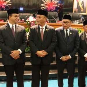 Hadiri Pelantikan, Anies Ajak DPRD DKI Kerja Bareng Majukan Jakarta