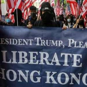 Polisi Tembak Pengunjuk Rasa, Senat AS Siap Loloskan RUU Demokrasi Hong Kong