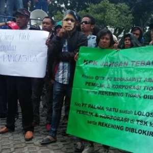 Gaji Belum Juga Turun, Buruh PT Palma Kembali Geruduk KPK