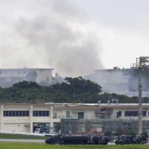 Gedung Penyimpanan Bahan Berbahaya Di Pangkalan Udara AS Di Okinawa Terbakar, Puluhan Personel Terpapar Gas