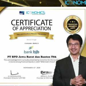bank bjb Raih Penghargaan Indonesia Financial Awards 2020