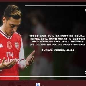 Kutip Ayat Al-Quran, Mesut Ozil Ajak Umat Muslim Perangi Islamofobia Dengan Kebaikan